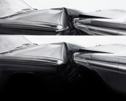 "Drago Persic, ""crash"", 2020, Öl auf Leinwand, 40 x 50 cm © Drago Persic"