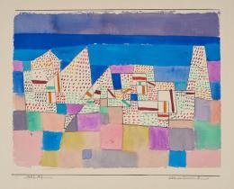 Paul Klee, Côte de Provence 1, 1927, 229, Aquarell auf Papier auf Karton, 15,1 x 23,5 cm, Zentrum Paul Klee, Bern