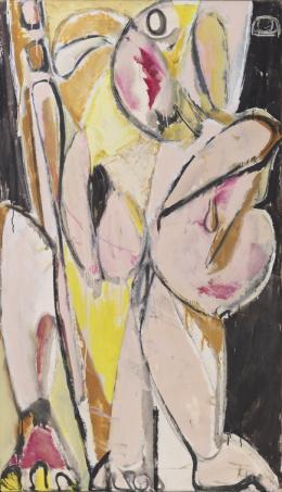 Lee Krasner, Prophecy, 1956, Öl auf Baumwolldruck, 147.6 x 86.4 cm, Privatbesitz, Foto: Kasmin Gallery, New York, Christopher Stach © The Pollock-Krasner Foundation