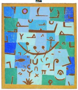 Paul Klee, Legende vom Nil, 1937, 215, Pastell auf Baumwolle auf Kleisterfarbe auf Jute, 69 x 61 cm, Hermann und Margrit Rupf-Stiftung, Kunstmuseum Bern