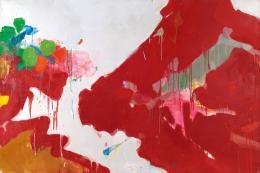 """Pfirsichblütenfest"", 1961, New York, Öl auf Leinwand, 130 x 195 cm, Teruko Yokoi, Bern © the artist"