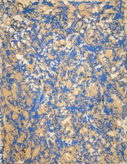 Lee Krasner, Through Blue, 1963, Öl auf Leinwand, 191.8 x 147.3 cm, Privatbesitz, New York, Foto: Christopher Stach © The Pollock-Krasner Foundation
