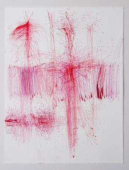 """Ruth M. Rhomberg-Malin, """"Springender Punkt"""", Tuschzeichnung, 2020 © Ruth M. Rhomberg-Malin"""