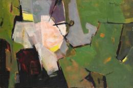 """Ohne Titel"", 1954, San Francisco, Öl auf Leinwand, 60,5 x 91 cm Teruko Yokoi, Bern © the artist"
