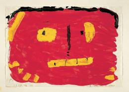 Paul Klee, Brand-Maske, 1939, 274, Kleisterfarbe und Bleistift auf Papier auf Karton, 20,9 x 29,7 cm © Zentrum Paul Klee, Bern, Schenkung Livia Klee