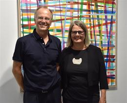 Galeristin Charlotte Smuda-Jeschek mit ihrem 'assistierenden' Mann Volker Jescheck