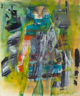 Robert Muntean: No Wave Queen (Öl auf Papier auf Leinwand, 2019)