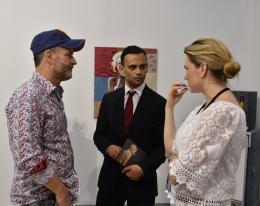 Der neue künstlerische Leiter Aram Haus (Mitte) im Expertengespräch