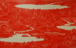 Lee Sea Hyun: Betwwen, Red33, 2008, Öl auf LW, Sigg Collection, © The Artist