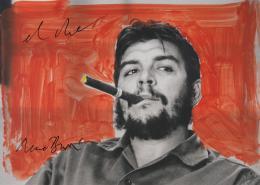 René Burri, El Che nach 2005. Karton gemalt von der Retrospektive 2005–2010 in Rotterdam. © René Burri / Magnum Photos. Fondation René Burri, Courtesy Musée de l'Elysée, Lausanne