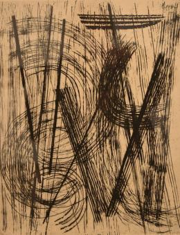 Hans Hartung: Ohne Titel (Kaltnadelradierung, 1957)