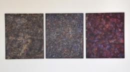 Herbert Meusburger: Gemäldeformation (Acryl und Gips auf OSB-Platte) (© Karlheinz Pichler)