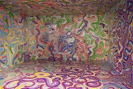 Von Artist in Residence Milan Mladenovic gestalteter Raum