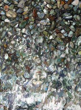Emre Baykal (Zurich, Swiss): Stones, 2008, Öl auf Leinwand