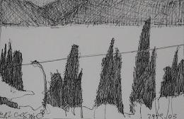 Reiseskizze von Ursula Dorigo