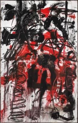 Emilio Vedova Rosso, 1983 Wasserfarben, Pastell, Sand und Zement auf Leinwand 300x190 cm Leihgeber: Fondazione Emilio e Annabianca Vedova, Venedig Foto © Vittorio Pavan, Venedig