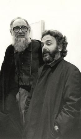 Emilio Vedova und Arnulf Rainer, frühe 1980er Jahre. © Fondazione Emilio e Annabianca Vedova; Foto: Graziano Arici, Venedig.