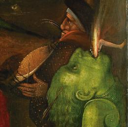 Hieronymus Bosch: WeltgerichtsTriptychon, Detail, um 1490 – um 1505, Öltempera auf Eiche © Gemäldegalerie der Akademie der bildenden Künste Wien