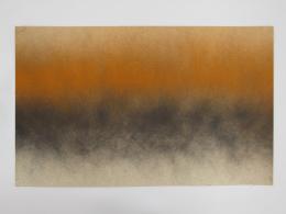 Bill Bollinger, Untitled (Orange/Black Spray Painting), ca. 1968, Kunstmuseum Liechtenstein, Vaduz © Estate Bill Bollinger