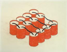 Bill Bollinger, Untitled (Barrel Pieces), 1970, Kunstmuseum Liechtenstein, Vaduz © Estate Bill Bollinger