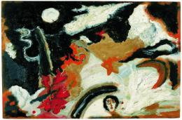 Else Blankenhorn, ohne Titel, vor 1921; Öl auf Aquarellpapier, 29 x 44 cm © Sammlung Prinzhorn, Universitätsklinikum Heidelberg