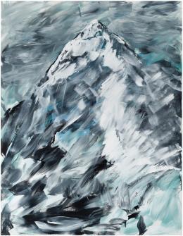 """Herbert Brandl, """"Ohne Titel"""", 2020,  Acryl auf Leinwand, 218 x 170 cm Courtesy des Künstlers"""