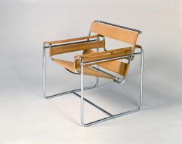 Stahlrohr-Armlehnsessel, Entwurf (1925) von Marcel Breuer; Bauhaus-Archiv Berlin. Foto: Fotostudio Bartsch