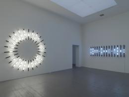 Brigitte Kowanz, Exhibition view Museum Haus Konstruktiv, 2020. Photo: Stefan Altenburger. © 2020, ProLitteris, Zurich; Studio Brigitte Kowanz