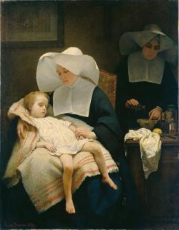 """Henriette Browne (1829–1901),  """"Die barmherzigen Schwestern"""", 1859 Öl auf Leinwand, 167 x 130 cm © Hamburger Kunsthalle / bpk Foto: Elke Walford"""