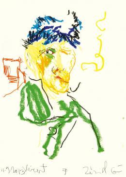 Guillaume Bruère: Zeichnung nach Vincent van Gogh im Kunsthaus Zürich, 2013. Buntstift und Ölkreide auf Papier, 70 x 50 cm; Courtesy the artist, © Guillaume Bruère