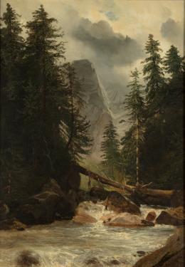 """Alexandre Calame, """"Ohne Titel"""", undatiert Öl auf Leinwand, 44 x 31 cm, Kunstmuseum Luzern, Leihgabe aus Privatbesitz"""