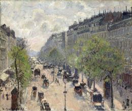Camille Pissarro: Boulevard Montmartre, Frühling 1897. Öl auf Leinwand, 462 x 550 cm; Museum Langmatt