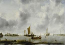 Jan van de Cappelle, Boote in der Scheide-Mündung, 1651Öl auf Leinwand, 66 x 97 cm, Kunsthaus Zürich, Ruzicka-Stiftung, 1950