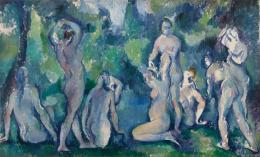 Paul Cézanne (1839–1906) Badende Frauen, um 1895 Öl auf Leinwand, 47 x 77 cm Ordrupgaard, Kopenhagen © Foto: Anders Sune Berg