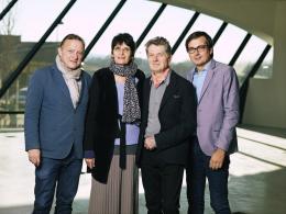 Christian Bauer, Renate Bertlmann, Heinz Cibulka, Guenther Oberhollenzer © Foto: Lukas Beck