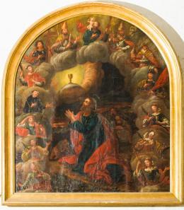 Christus am Ölberg und die Vierzehn Nothelfer, Gemälde aus der Sebastianskapelle in Satteins, Franz Anton Simon, um 1740, Foto: Dieter Petras