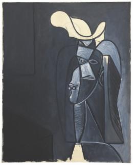 Pablo Picasso Visage gris foncé au chapeau blanc, 1947 Öl auf Leinwand / oil on canvas 92 x 73 cm Hilti Art Foundation © 2019, ProLitteris, Zürich