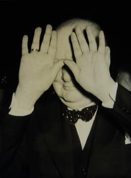 """Anonym, Winston Churchill erhält """"blendenden"""" Empfang, 1949, Silbergelatineabzug, © Skrein Photo Collection"""