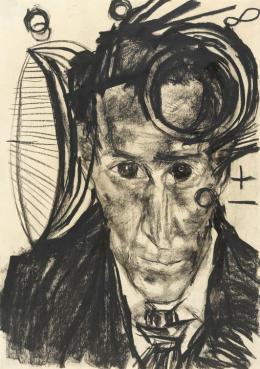 Edmund Kalb (1900 – 1952), Selbstbildnisse, entstanden 1918 – 1937, Aquarell, Bleistift, Kreide und Tusche auf Papier, Foto: Markus Tretter