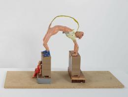 Gelitin, Modell zur 'Arc de Triomphe'-Skulptur, 2003, Gips, Plastilin, Museum der Moderne Salzburg © Bildrecht, Wien, 2019, Foto: Rainer Iglar
