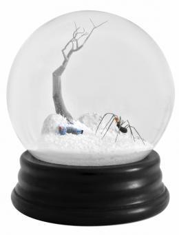 Walter Martin & Paloma Muñoz Traveler 262, 2009 (Reisende_r 262), aus der Serie Snow Globes, Schneekugel, Courtesy Walter Martin & Paloma Muñoz