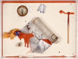 Daniel Spoerri, Où est la vipère - Une page d'histoire, 1974 Foto © mumok - Museum moderner Kunst Stiftung Ludwig Wien, ehemals Sammlung Hahn, Köln, Bildrecht Wien 2020