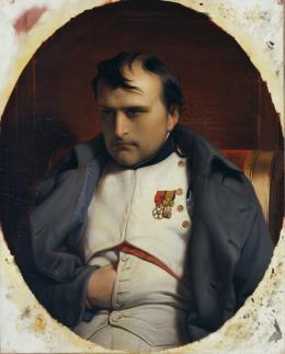 "Paul Delaroche (1797–1856),  ""Napoleon in Fontainebleau"", 1846 Öl auf Leinwand, 81 x 65 cm © Hamburger Kunsthalle / bpk Foto: Elke Walford"