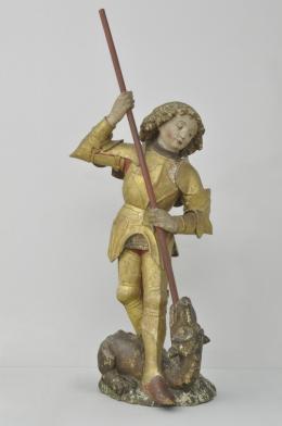 Hl. Georg, die originale Mittelfigur des Kristberger Flügelaltars, Foto: Arno Gehrer