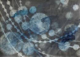 © Doris von Stokar «in between», 2018, Aquarell und Grafit auf Papier, 59 × 83 cm