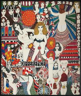 "Dorothy Iannone: ""Vive la Difference"", 1979. Gouache auf Bristolkarton, 69,85 x 59,69 cm; Foto: Monika Frei-Herrmann"