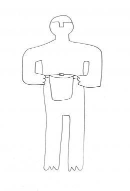 Hannes Egger: Zeichnung zur Performance (Bild: zVg)