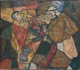 Egon Schiele, Agonie, 1912 © bpk | Bayerische Staatsgemäldesammlungen
