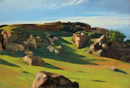 Edward Hopper, Cape Ann Granite, 1928. Öl auf Leinwand, 73.5 x 102.3 cm; Privatsammlung. © Heirs of Josephine Hopper / 2019, ProLitteris, Zürich