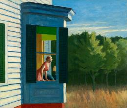 Edward Hopper, Cape Cod Morning, 1950. Öl auf Leinwand, 86.7 x 102.3 cm; Smithsonian American Art Museum, Gift of the Sara Roby Foundation. © Heirs of Josephine Hopper / 2019, ProLitteris, Zürich; Foto: Smithsonian American Art Museum, Gene Young